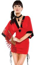 Picture of Oriental Red Dress Adult Womens Costume