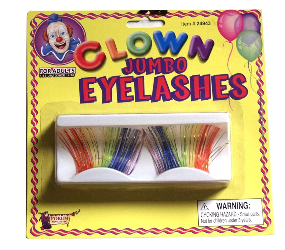 Picture of Jumbo Clown Rainbow Eyelashes