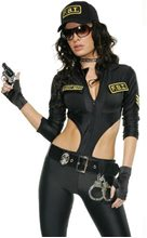 Picture of FBI Agent Sexy Catsuit Adult Womens Costume