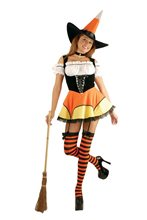 Picture of Candy Corn Witch Adult Costume