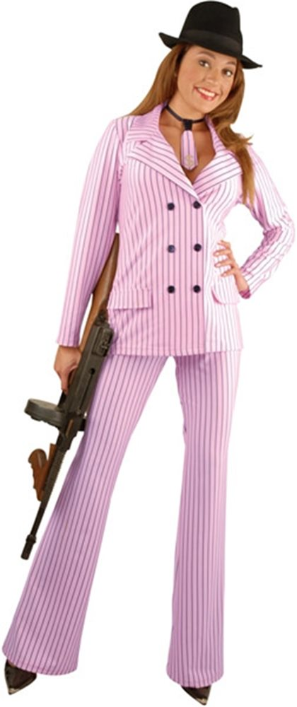 Picture of Gangster Moll Pink Adult Suit