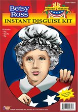 Picture of Betsy Ross Wig and Mop Cap Kit