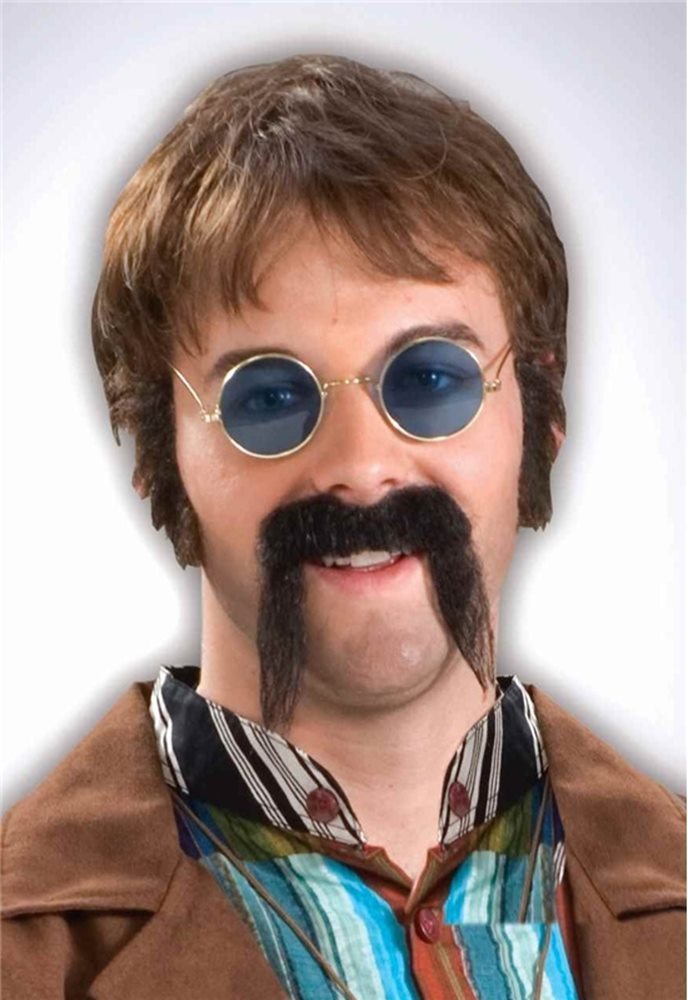 Picture of Black Fu Manchu Moustache