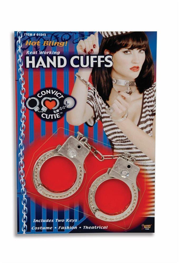 Picture of Cutie Convict Rhinestone Police Handcuffs