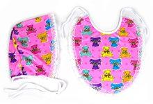 Picture of Pink Baby Bib & Bonnet Kit