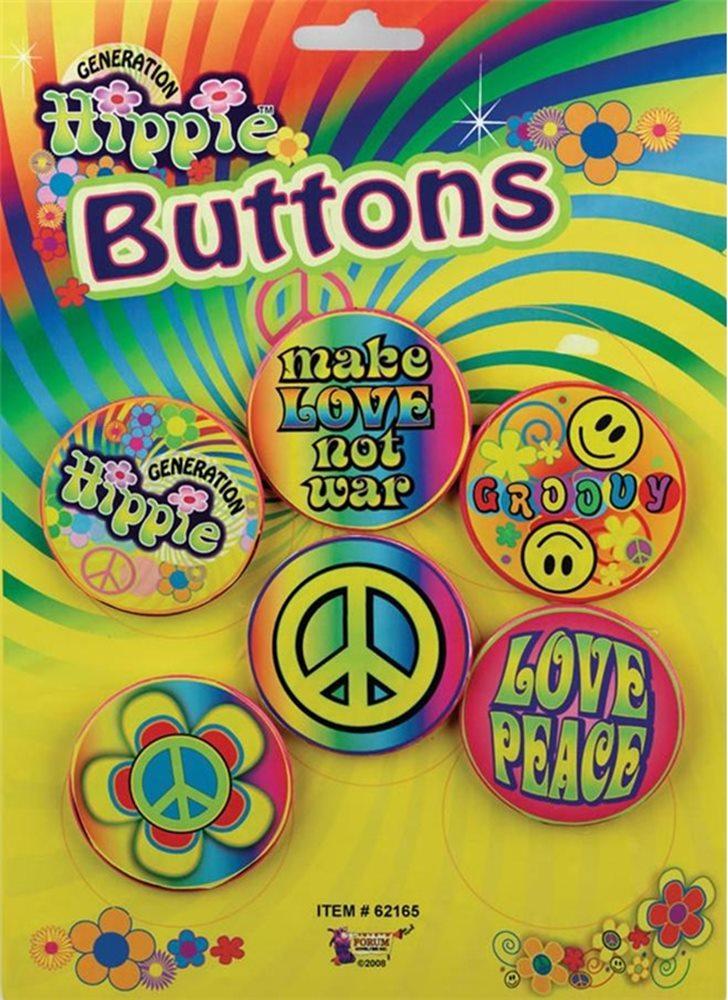 Picture of Hippie Button Set (6 Pieces)
