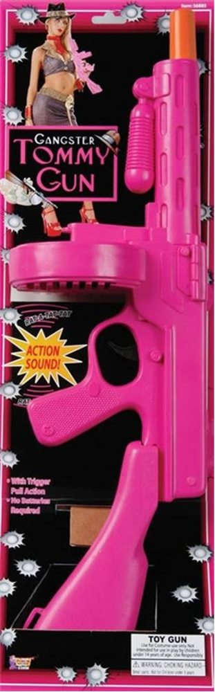 Picture of 20s Gangster Hot Pink Tommy Gun