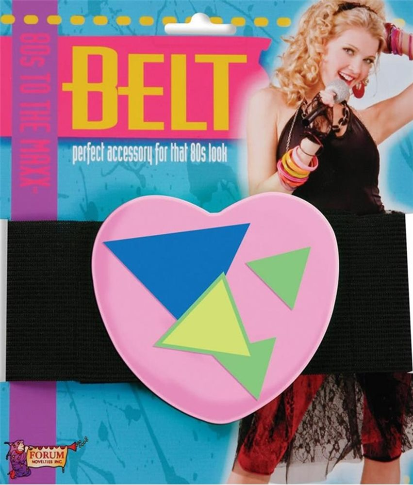 Picture of 80s Neon Pink Heart Belt