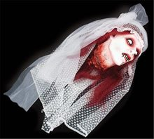 Picture of Vampire Bride Cut Off Head Hanging Prop