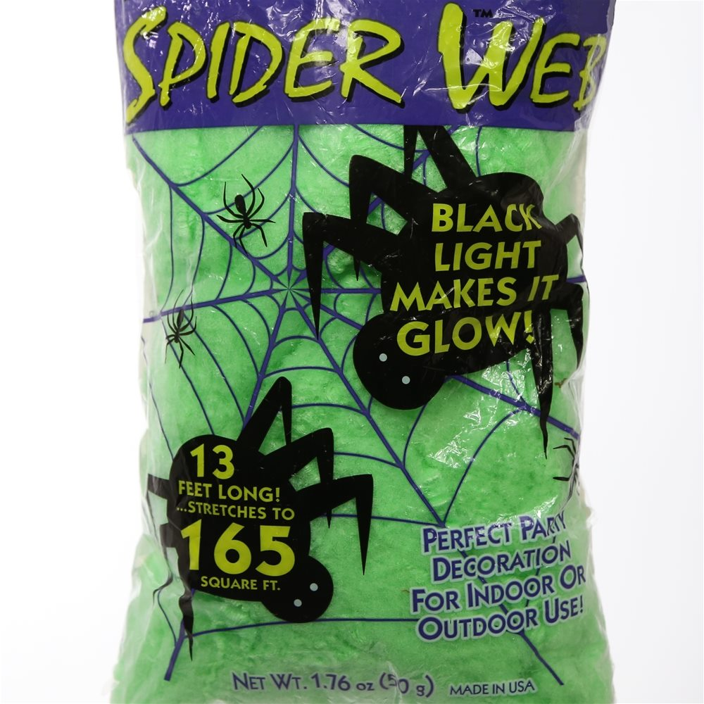 Picture of Green Super Glow Spiderweb 165 Square Feet