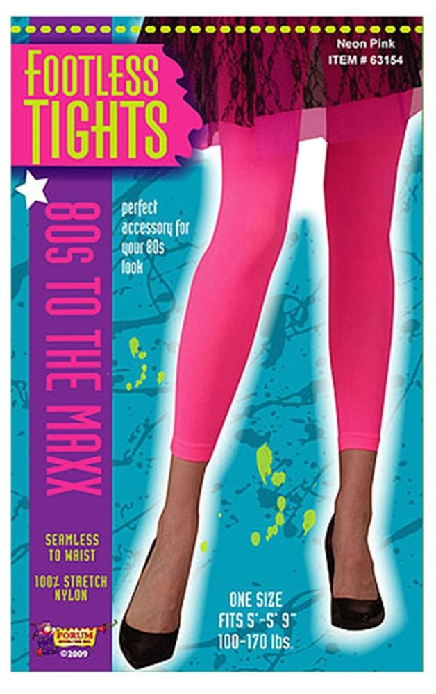 Picture of Neon Pink Footless Tights