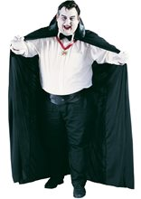 Picture of Dracula Plus Size Adult Mens Cape