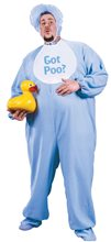 Picture of Blue Baby Jammies Plus Size Adult Mens Costume