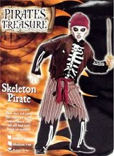 Picture of Skeleton Pirate Child Costume
