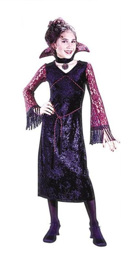 Picture of Deluxe Goth Lace Vamp Child Costume