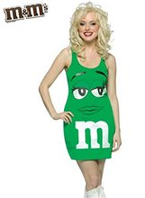 Picture of M&M Green Dress Adult Costume