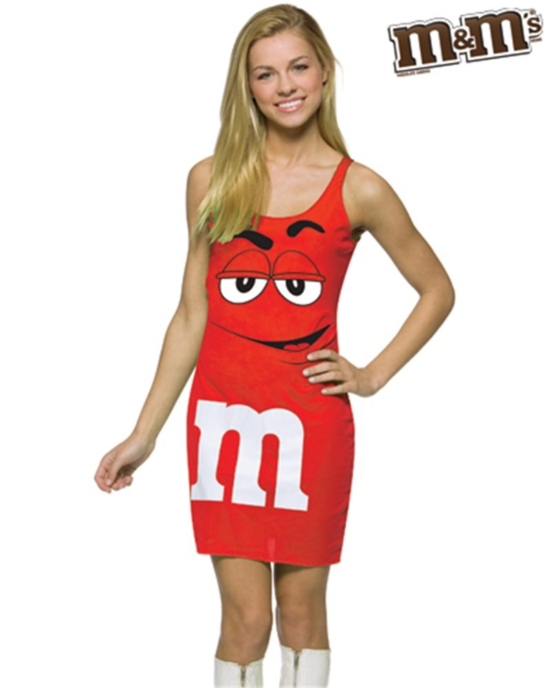 Picture of M&M Red Dress Teen Costume