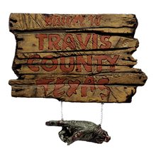 Picture of Texas Chainsaw Massacre Travis County Sign