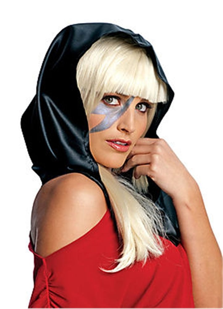 Picture of Lady Gaga Black Headscarf