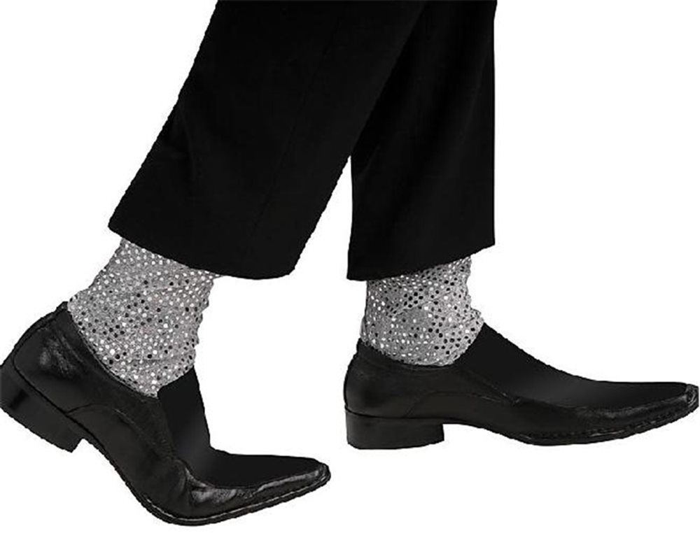 Picture of Michael Jackson Sequin Adult Faux Socks