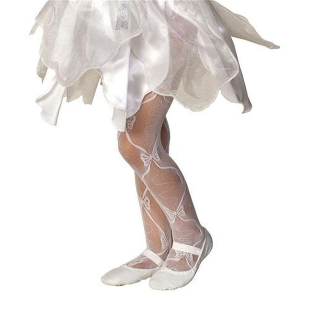 Picture of Deluxe Mesh Bow Child Tights