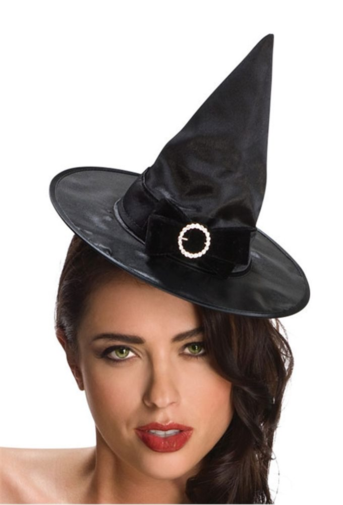 Picture of Black Mini Witch Hat With Bow