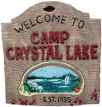 Picture of Camp Crystal Lake Sign