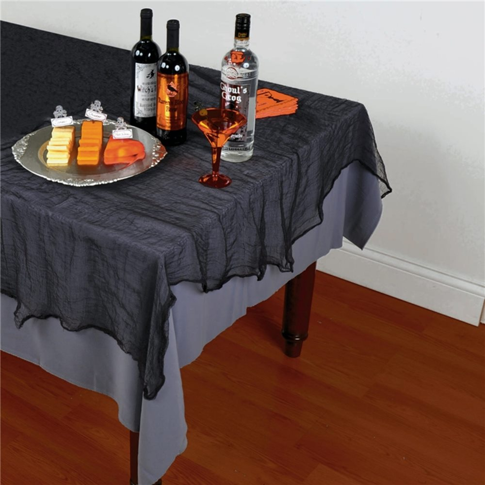 Picture of Black Cheesecloth Tablecover