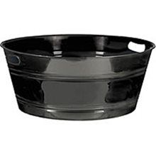 Picture of 20in Black Plastic Tub