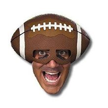 Picture of Deluxe Football Fanatic Adult Half Mask