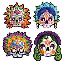 Picture of Day Of Dead Masks 4ct