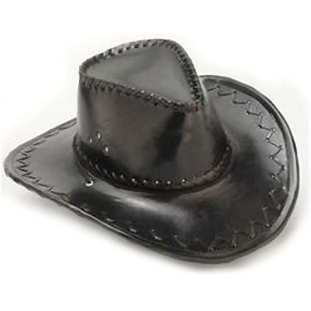 Picture of Black Pleather Cowboy Hat