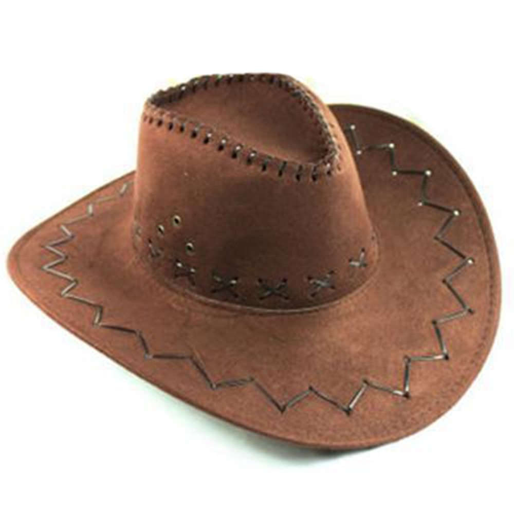Picture of Brown Cowboy Hat Faux Suede