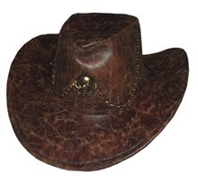 Picture of Brown Cowboy Hat with Chain