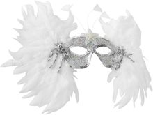 Picture of Snowflake Feather Masquerade Mask