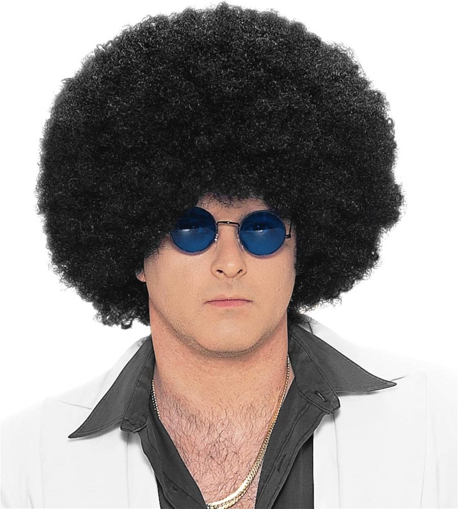 Picture of Black Jumbo Afro Adult Wig