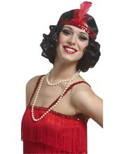 Picture of Curly Flapper Wig with Headband