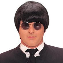 Picture of Black 60s Mod Adult Wig