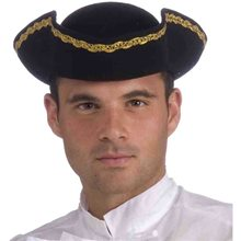 Picture of Tricorner Black Pirate Adult Hat