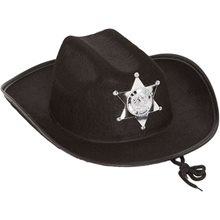 Picture of Black Sheriff Cowboy Child Hat