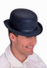 Picture of Black Derby Adult Hat