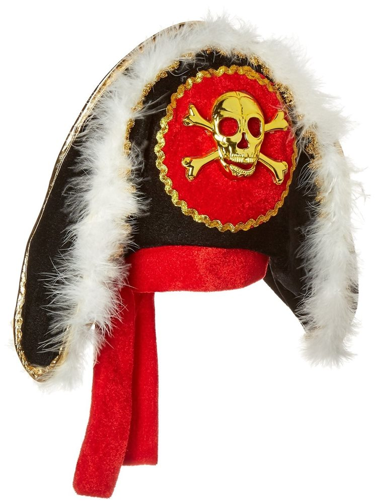 Picture of Pirate Hat with Gold Skull & Crossbones