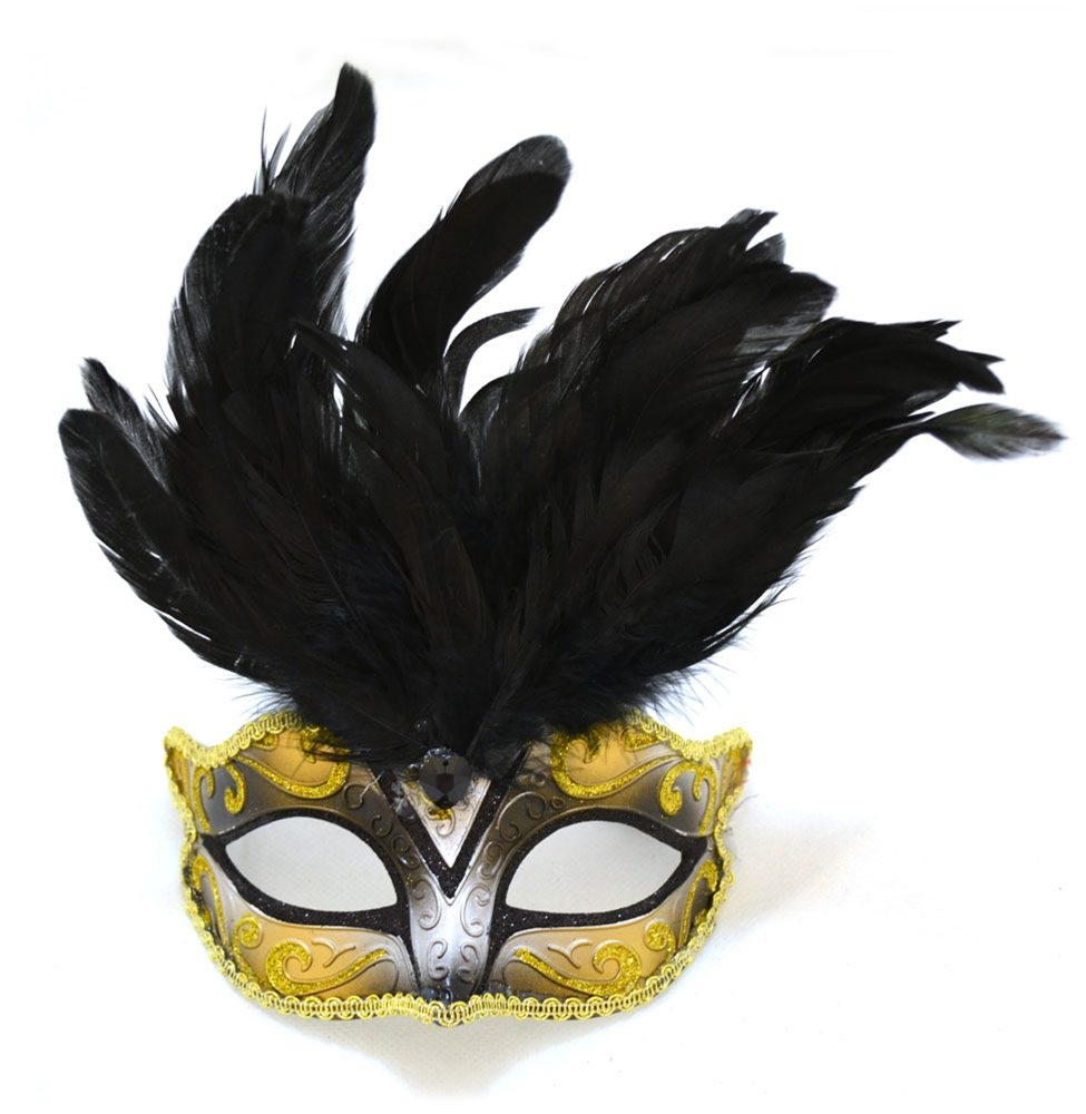 Picture of Venetian Child Mask with Feathers