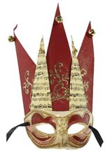 Picture of Jester Adult Mask with Bells