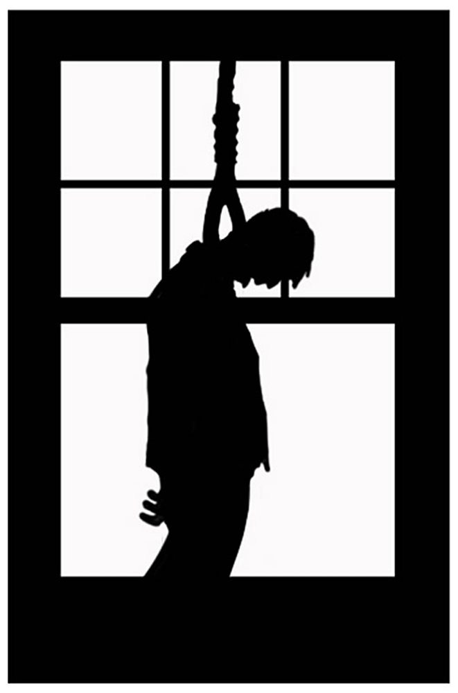 Picture of Hanging Dead Man Silhouette Decoration