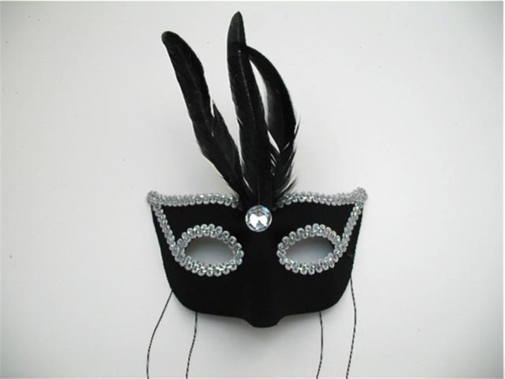 Picture of Genevieve Black and Silver Adult Mask