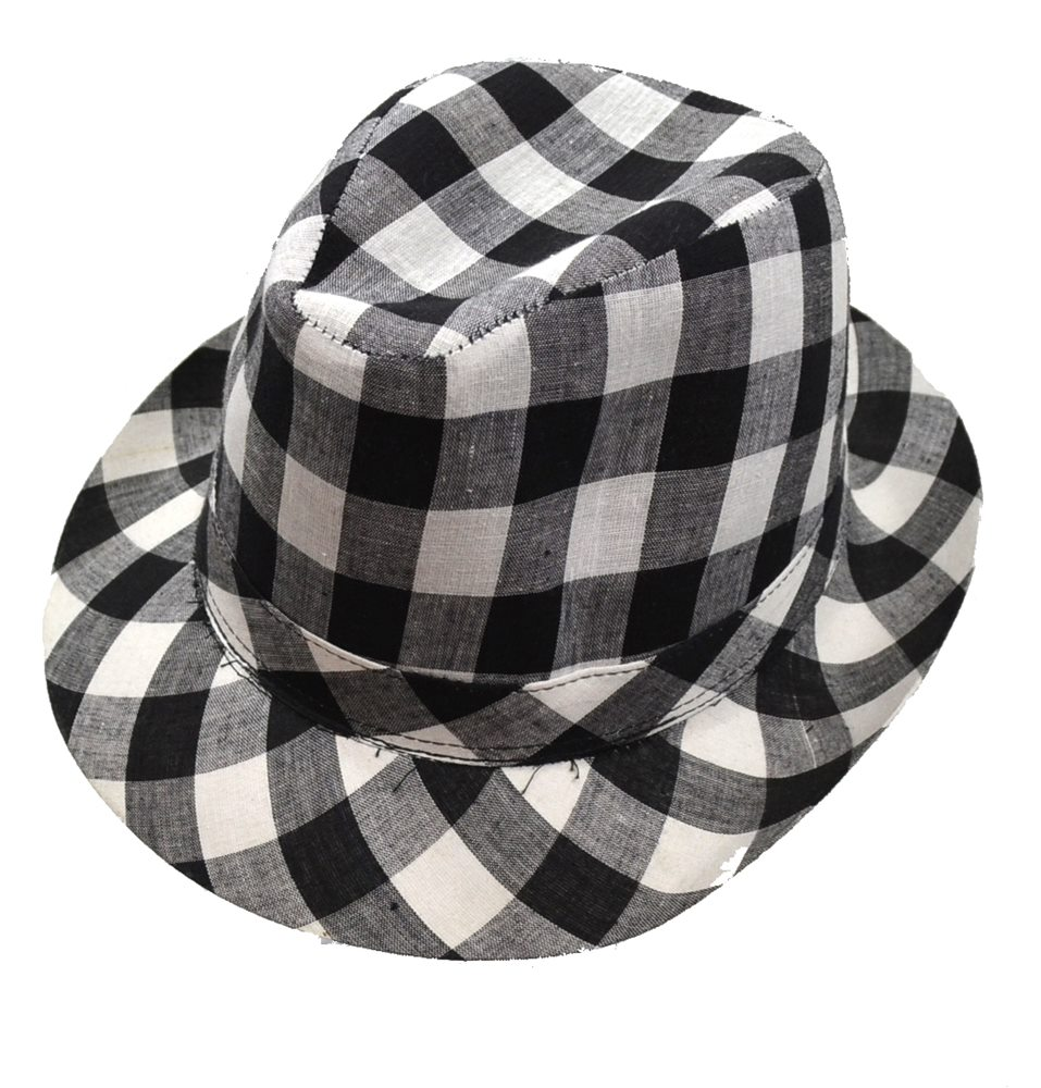 Picture of Checkered Fedora Adult Hat