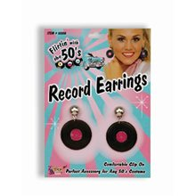 Picture of 50s Record Earrings