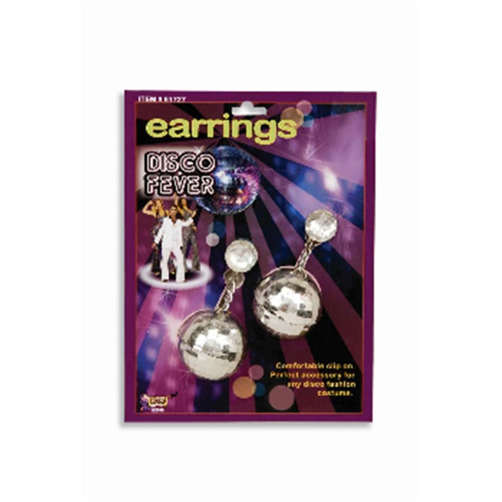 Picture of Disco Ball Silver Earrings