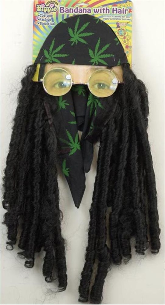 Picture of Hippie Bandana with Braids Adult Wig